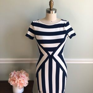 Maeve • Fitted Stripe Dress